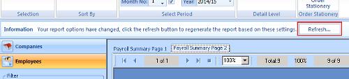 print report refresh button