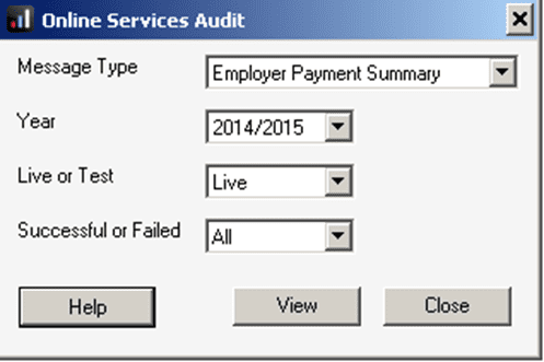 EPS audit window