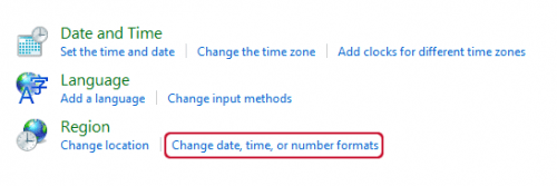 Windows 10 control panel region and language settings