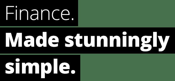 Finance. Made stunningly simple.