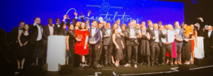 IRIS customers celebrating at the awards